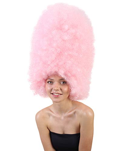 Halloween Party Online Super Size Jumbo Afro Wig Collection, Adult & Kids (Adult, Light Pink)