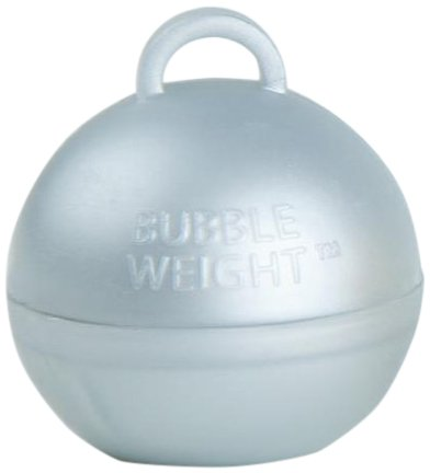 Bubble Weight Balloon Weight, 35g, Metallic Silver, 10