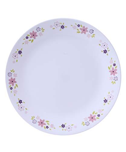Corelle Livingware Floral Fantasy Glass Dinner Set, 10 Pieces, Pink/Purple