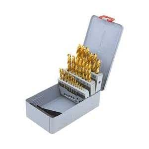 1, juego de brocas en espiral de acero rápido 0-13, 0 x 0,5 mm en incrementos de, revestimiento de nitrito de titanio, 25-lápices