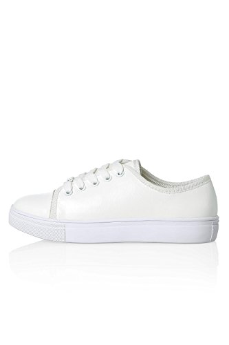 Only Damen Sneaker Kunstleder Low Top Skater White/White Sole