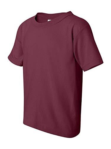 Gildan boys Heavy Cotton T-Shirt(G500B)-MAROON-S