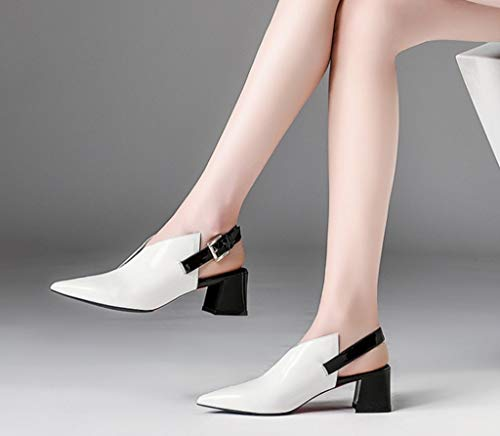 Misto Sandali in Primo Dimensioni 36 Bianca Tallone Colore Pelle Comodo Ladies di Strato Estate Colore xpS0n
