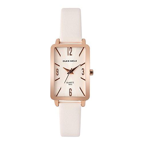 Womens Fashion Watch,Ladies Elegant Rectangular Case Dress Waterproof Quartz Casual Wrist Watches for Ladies ()