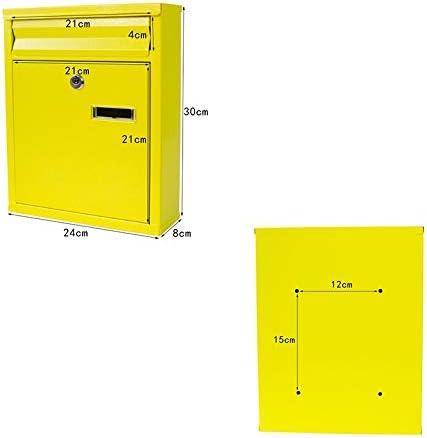 Mailbox Mail Post Office Mailbox Buzón Impermeable Buzón Montado En La Pared 24 × 8 × 30 Cm FKYGDQ: Amazon.es: Hogar