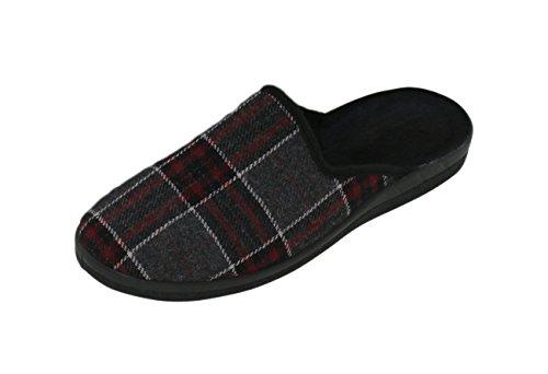 brandsseller - Zapatos de cordones de Material Sintético para hombre, color gris, talla 40