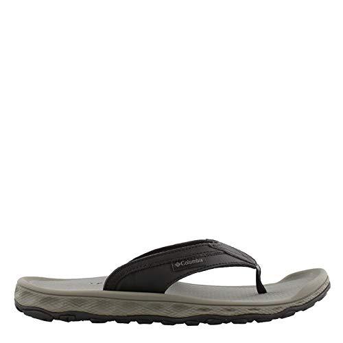 - Columbia Men's Buxton FLIP Sport Sandal, Black, Charcoal, 17 Regular US