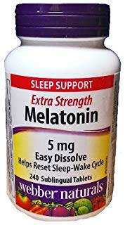 Webber Naturals Melatonin, 5 mg, Easy Dissolve, 240 Sublingual Tablets