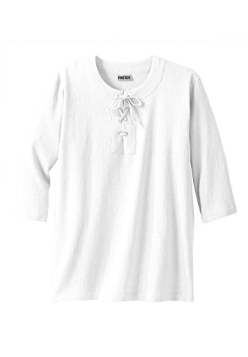 Kingsize Mens Gauze Lace Up Shirt