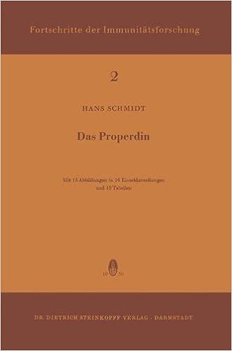 PDF téléchargement ebook gratuitDas Properdin (Immunology Reports and Reviews) (German Edition) (French Edition) ePub