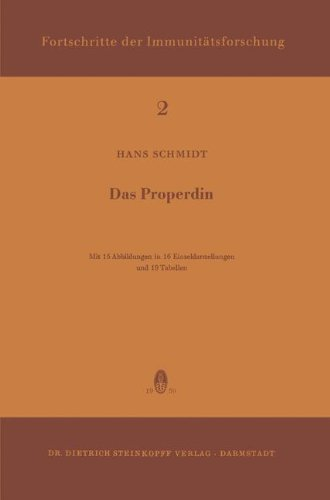 Das Properdin (Immunology Reports and Reviews, Band 2)