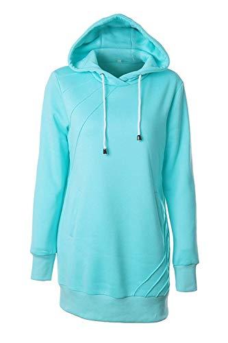 Hoody Felpa Xxl Casual Donna Pink Qinch Pullover Cappuccio Stile color Con Size Maniche Inverno Schwarz Felpe vwdxH6qTYx