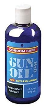 Gun Oil H2O Water Based Personal Massage Personal Sex Personal Lube Lubricant 16 oz
