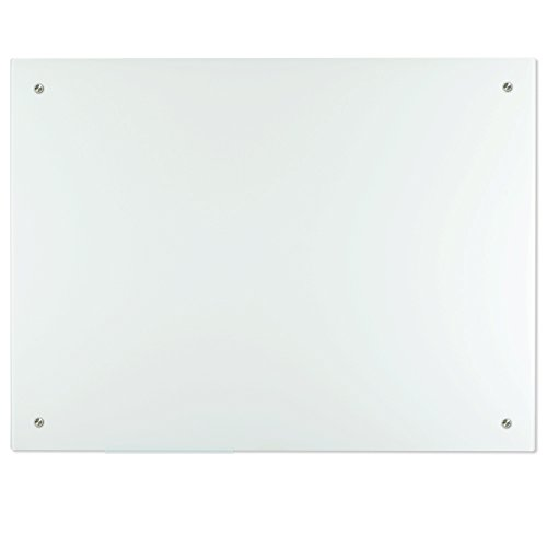 Lockways Magnetic Glass Dry Erase Board – Magnetic White board / Whiteboard 48 x 36, Glass Board, Glass Board Frameless, Magnets,Clear marker tray, for Office, Home, School by Lockways