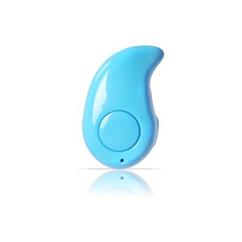Andux Mini Wireless Bluetooth Headphones Invisible Bluetooth Earbubs Sports Running Earphone 1 Piece LYEJ-01 (Blue)