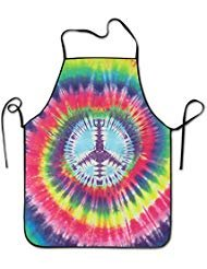 Tie Dye Peace Sign Adjustable Apron For Kitchen BBQ Barbecue Cooking Women's Men's Great Gift For Wife Ladies Men Boyfriend