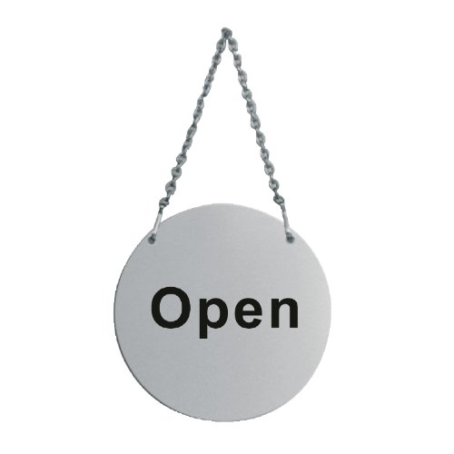Hanging Shop Door Sign Open and Closed Plaque House Slate 130mm Stainless Steel Non Branded 8940