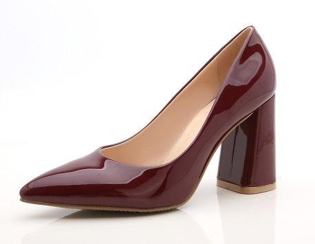 Femeninos GAOLIM Colores De De La De Espesor Del Puntiagudo Tacón Zapatos De Singles Zapatos Los De 8Cm Con rojo Trabajo De Desnudo Negro Luz Otoño Mujer Vino Zapatos rrgRn