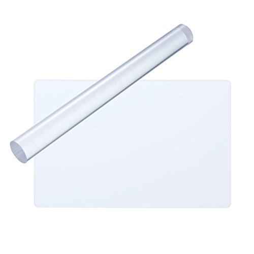 ULTNICE 2pcs Clay Rolling Pin Acrylic Clay Roller Rectangle Acrylic Sheet Board Tools Acrylic Pins