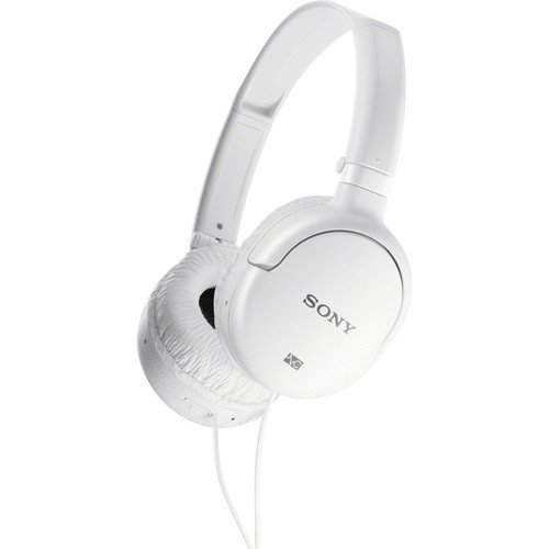 (Sony Over the Ear Noise Canceling Headphones With Bonus In-flight Plug Adapter (White))