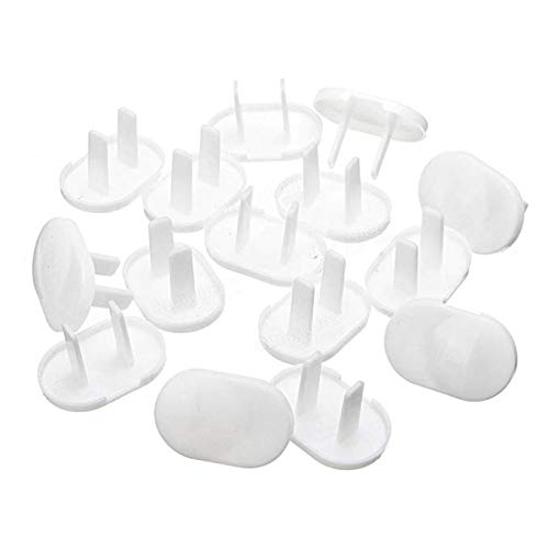 LoveInUSA Secure Press Plug Protectors Outlet Plugs 20Pcs
