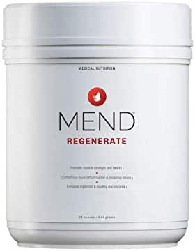MEND Regenerate - Muscle Recovery, Sports Nutrition, and Vitality Supplement - for Men's and Women's Health - Natural, Gluten Free, and Non-GMO - Cocoa Flavored Protein Powder - 20 Servings