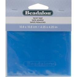 Bulk Buy: Beadalon Tacky Bead Mat 4.25X4.25 1/Pkg Blue 218H200 (3-Pack) Inc.