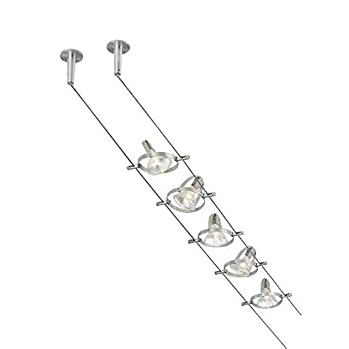 Tiella 800CBL5PN Accent Electronic Low Volt Surface Track Lighting Kits 100 Watts Halogen Nickel  sc 1 st  Amazon.com & Cable Lights: Amazon.com azcodes.com