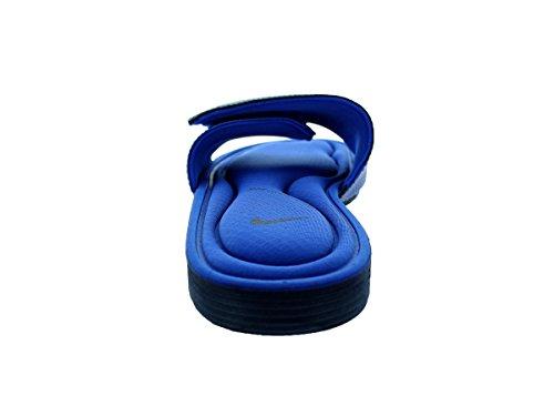 Nike Hombres Solarsoft Comfort Slide Sandalia Midnight Navy / Blanco / Game Royal