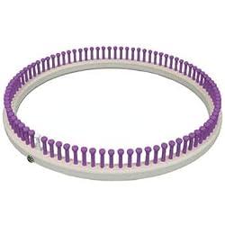 """CINDWOOD Small Round Afghan 1/2"""" 90 peg Loom (Purple)"""