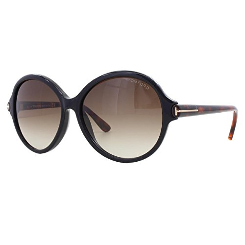 Tom Ford Womens Milena Oversized Gradiant Round Sunglasses Black - Ford Discount Tom