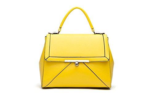 Inverno qckj Fashion Croce Corpo Borsa a tracolla borsa PU donna giallo