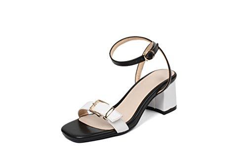 Hembra Sandalias Terraza Sandalias Verano Piscina GAOLIM Con Silvestres Mujer Y Zapatos De Blanco Atar WBz7FA