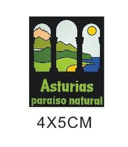 Pegatina vinilo impreso para coche, pared, puerta, nevera, carpeta, etc. Asturias paraiso natural SUPER STICKER