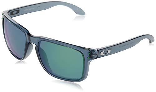 Oakley Men's OO9417 Holbrook XL Square Sunglasses, Crystal Black/Prizm Jade, 59 mm (Oakley Prizm Sonnenbrille)