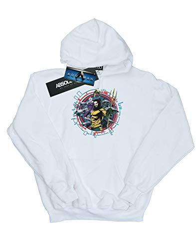 Circular Crest Mujer Capucha Blanco Aquaman Comics Dc q5Iwtt
