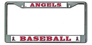 Yohoba Anaheim Angels Chrome License Plate ()
