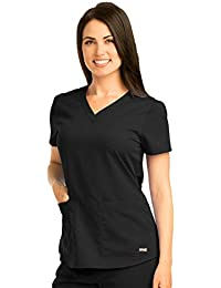 Grey's Anatomy Women's 71166 Two Pocket V-Neck Scrub Top With Shirring Back