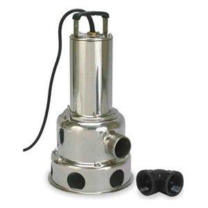 Dayton 2JGA5 Submersible Sewage Pump, 1/2 HP, 115 Volt