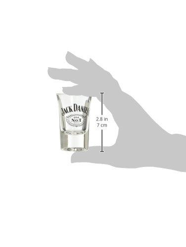 Jack Daniels Licensed Barware Swing Cartouche Shot Glass, 1 oz, Clear