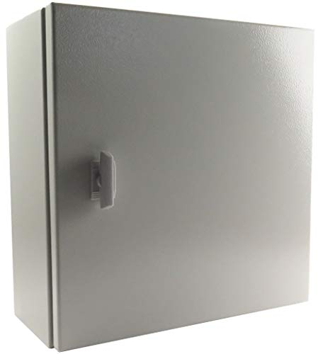 Yuco YC-16X12X6-IP65 Enclosure with Gland Plate (Screw Plate), Nema Type 4, IP65, Single Door Hinge Cover, Wall-Mount, Backplate (16 x 12 x 6)
