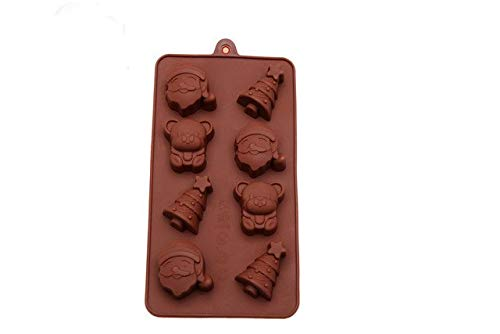 1pcs Christmas Cake Mold Silicone Mold Santa Snowman Candle Chocolate Mould DIY Bakeware Mould for cake decoration FM1768