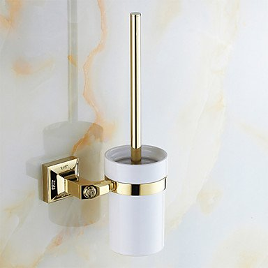 AMEA Mordern Gold Color Luxury Brass Rose Pattern 4pcs Bathroom Accessory Set by AMEA (Image #2)