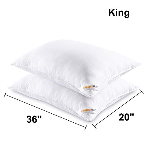 Bed Pillows For Sleeping 2 Pack Luxury Plush Down
