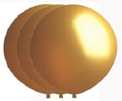 36 Inch Giant Round Gold Latex Balloons by TUFTEX (Premium Helium Quality) Pkg/3