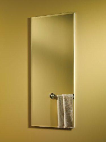 Jensen 868P34WHG Frameless Horizon Collection Single Door Recessed Cabinet, 36-Inch High 4-1/2-Inch Depth