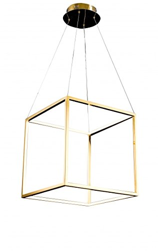 Floating Led Box In A Stainless Steel Gold Frame