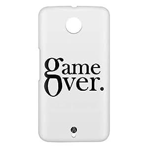 Loud Universe Motorola Nexus 6 3D Wrap Around Game Over Print Cover - White