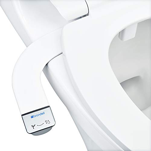 (Brondell Bidet - Thinline SimpleSpa SS-150 | Fresh Water Spray | Non-Electric | Bidet Toilet Attachment in White with Self Cleaning Nozzle | SafeCore Internal Valve | Nozzle Guard | Easy to Install )