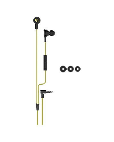 BlackBerry WS-510 Premium Stereo Headset 3.5mm - Black/Yellow - Retail Packaging